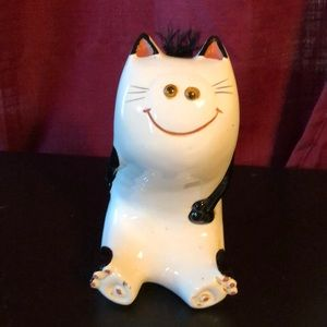 """Vintage Ceramic Kitty Bank approx 7""""x6"""""""
